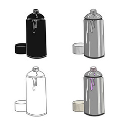 spray paint can icon in cartoon style isolated on vector image vector image