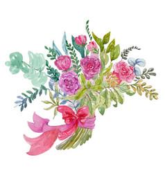watercolor bouquet vector image vector image