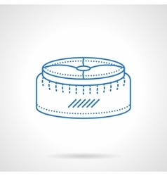 Pouf blue flat line icon vector image vector image