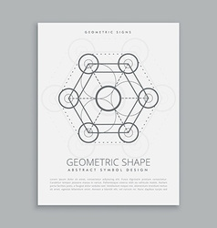 sacred geometry sign and symbol vector image vector image