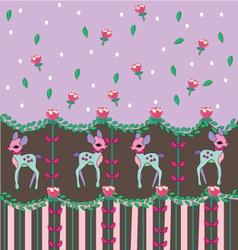 sweet dear pattern lolita vector image