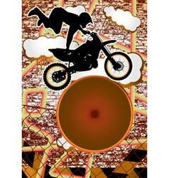 vintage urban grunge bike vector image vector image
