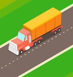 Cartoon Isometric Truck vector image vector image