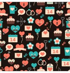 seamless pattern for Valentine day on dark backg vector image vector image