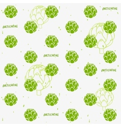 artichoke background vector image