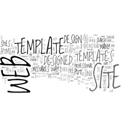 Benefits of web site templates text word cloud vector