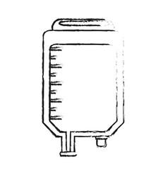 Blurred silhouette image cartoon medical serum bag vector