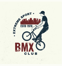 Bmx extreme sport club badge concept for vector