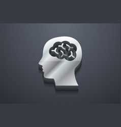 brain icon 3d vector image
