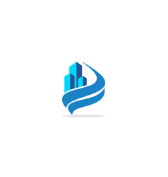 building wave logo vector image