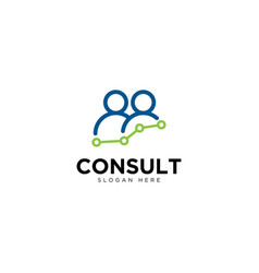 Business consultant and chat logo design template vector