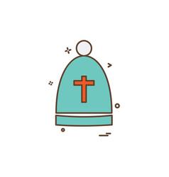 christian icon design vector image