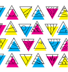 Cmyk triangle wallpaper vector
