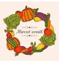 Colorful Vegetables Frame vector image
