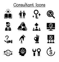 Consultant expert icon set vector