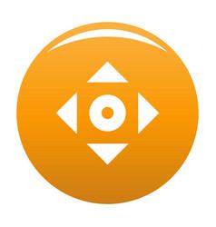 Cursor displacement app icon orange vector