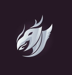 dragon logo vector image