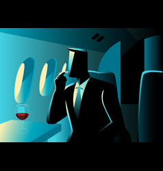 Executive businessman on private jet vector