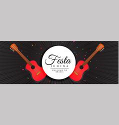 festa junina party celebration banner design vector image