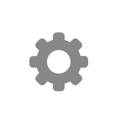 flat design style of gear vector image