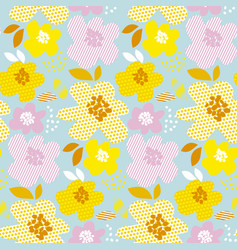 Floral contemporary summer color seamless vector