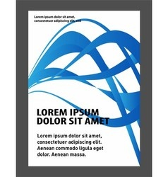 Flyer design content background vector