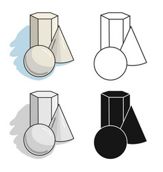 geometric still life icon in cartoon style vector image