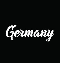 Germany text design calligraphy vector