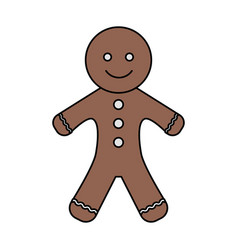 Gingerbread man icon image vector