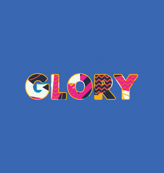 glory concept word art vector image