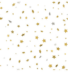 gold glittering background star dust and golden vector image