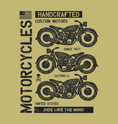 Hand drawn vintage motorcycle vector