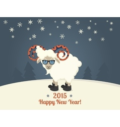 Happy new year postcard design vector image