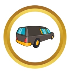 Hearse icon vector