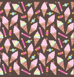 ice creams seamless pattern eps10 vector image