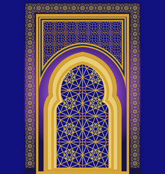 Islamic architecture ornamental backround vector