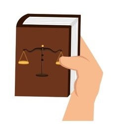 justice book isolated icon vector image