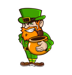 leprechaun on patricks day vector image