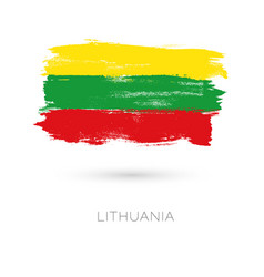 lithuania colorful brush strokes painted national vector image