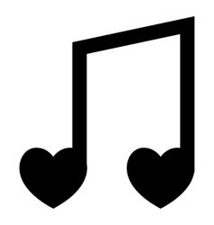 Love song icon simple style vector