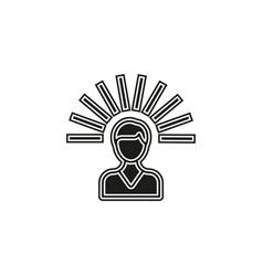 mind icon logo element vector image