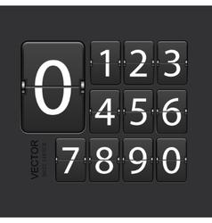 Modern numeric scoreboard set vector