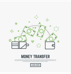 Money transfer concept vector