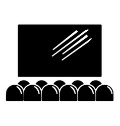movie theater screen icon simple black style vector image