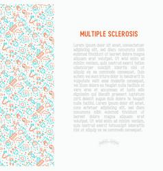 Multiple sclerosis concept with thin line icons vector