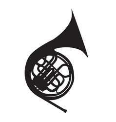 Musical instrument horn which is used in symphony vector