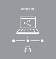 Network concept - flat minimal icon vector