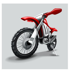 Off-road red motorbike vector