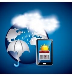 online weather vector image