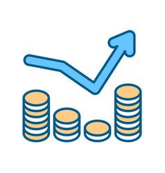 Penny stock rgb color icon vector